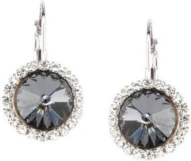 90ca60839 Štrasové náušnice NANETH s kryštálmi Swarovski Crystals Silver Night ...