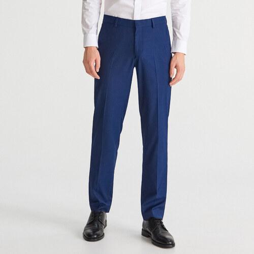 e330956ea9 Reserved - Oblekové nohavice slim fit - Tmavomodrá - Glami.sk