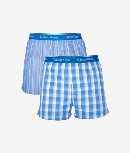 f2f26168ef -15% Nové Calvin Klein 2PACK pánské trenýrky Calvin Klein Classic Fit modré  NU1725A-LGW