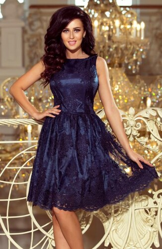 723eb49749db Modré čipkované šaty - Glami.sk