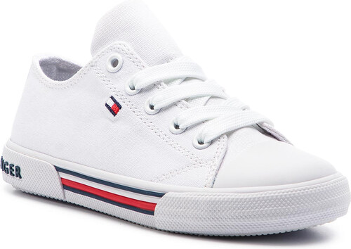 234c9480ba8b7 Tramky TOMMY HILFIGER - Low Cut Lace-Up Sneaker T3X4-30278-0034 M White 100
