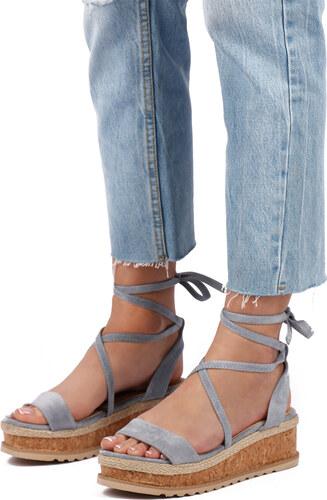 a6425dd77ace Ideal Modré platformové sandále Halley - Glami.sk