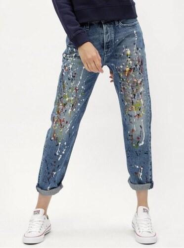 Nové Calvin Klein Jeans modré dámské straight džíny s vysokým pasem M 26b7e6dd1e