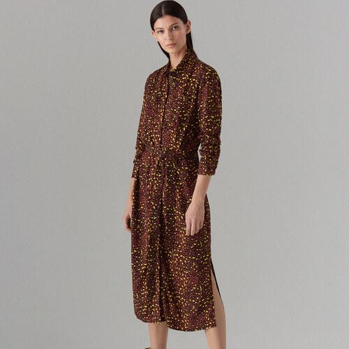 Mohito - Košilové šaty s leopardím potiskem - Tyrkysová - Glami.cz 0d9278fe823