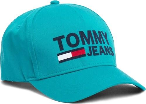 -5% Tommy Hilfiger türkiz egynemű sapka TJM Flock Cap Dynasty Green logóval 850391e7a1