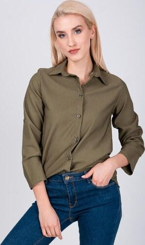 cadf0f51ba BASIC Dámska khaki košeľa (K44) - Glami.sk