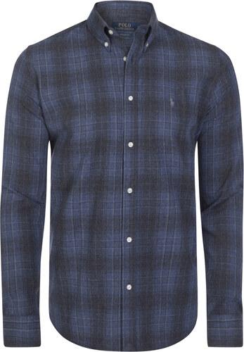 Šedo-modrá košeľa z prémiovej bavlny od Ralph Lauren - Glami.sk f58a945626f