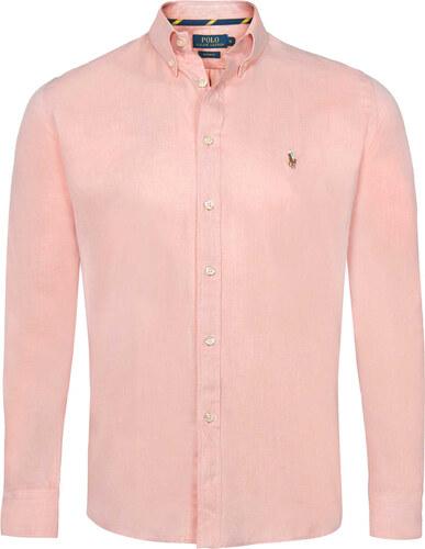 Svetlo rúžovo-hnedá prémiová košeľa od Ralph Lauren - Glami.sk be9bcca6dca