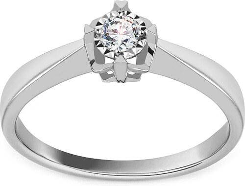 e6932f5ed iZlato Forever Zásnubný prsteň s diamantom 0.080 ct z bieleho zlata KU1187A