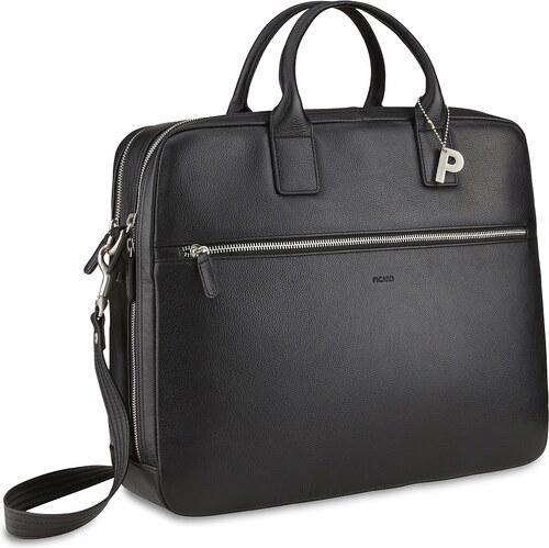 949aa86611 PICARD Pánská kožená taška na notebook MILANO 8083 černá - Glami.cz