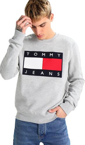Tommy Hilfiger Pánská mikina TOMMY JEANS - šedá - Glami.cz f1e57352fc