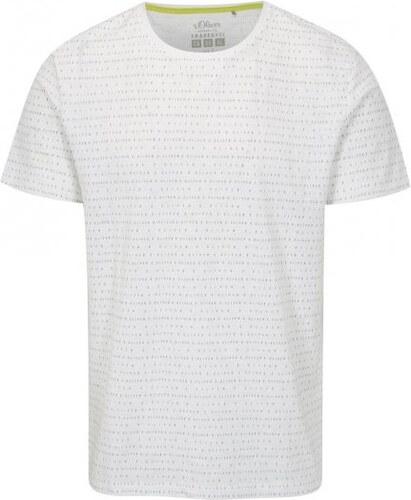 9ee0787e907c s.Oliver bílé pánské regular fit tričko s potiskem XXL - Glami.cz