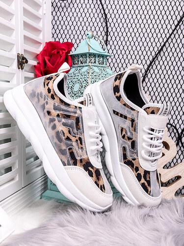 MODANOEMI Dámske biele tenisky s leopardím vzorom BL160BL - Glami.sk d1edcf86116