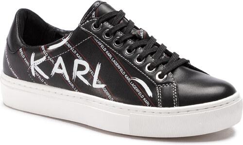 9c8024282c Sportcipő KARL LAGERFELD - KL61028 Black/White Lthr - Glami.hu