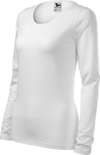 1d2185c34f80 -29% ČistéOblečenie.sk Jednofarebné Dámske tričko priliehavé s dlhým rukávom
