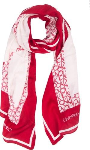 Calvin Klein červený šátek Geo Quilt Scarf Lipstick Red - Glami.cz fb4fc17e3b