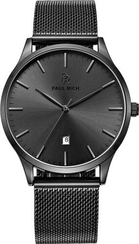 ad81cddf30 -23% Černé pánské hodinky Paul Rich s páskem z nerezové oceli Onyx - Mesh