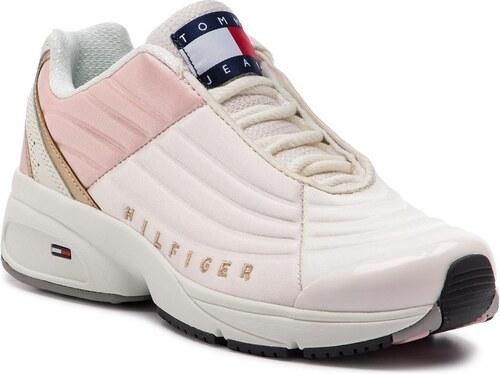 -5% Nové Tommy Hilfiger ružové tenisky na platforme WMN Heritage Tommy  Jeans Sneaker Delicacy 9bba6eaeb9