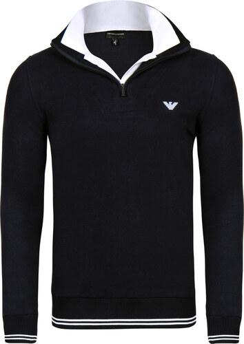 Černý luxusní svetr na zip od Emporio Armani - Glami.cz ac4040ad56