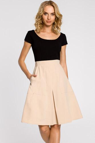 023d19e8d01c Béžová sukňa MOE 184 - Glami.sk