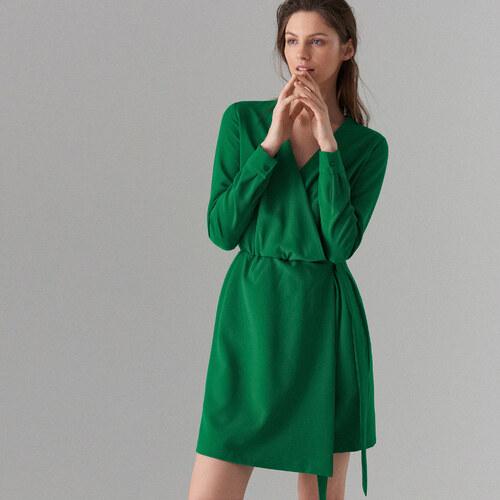 Mohito - Šaty s přeložením - Zelená - Glami.cz 3d038c1eca7
