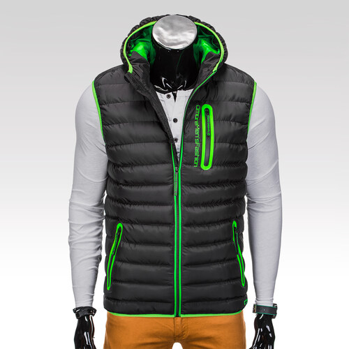 d5d1824db Ombre Clothing Pánska vesta s kapucou Jorden čierna - Glami.sk