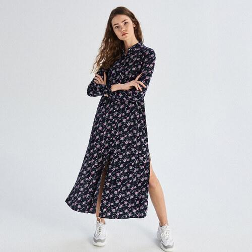 0fc8d03f7cef Sinsay - Košeľové šaty s potlačou - Viacfarebn - Glami.sk