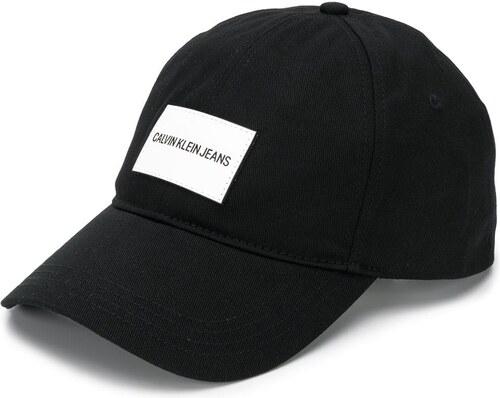 77760af7bf04a Calvin Klein Jeans logo patch baseball cap - Black - Glami.cz