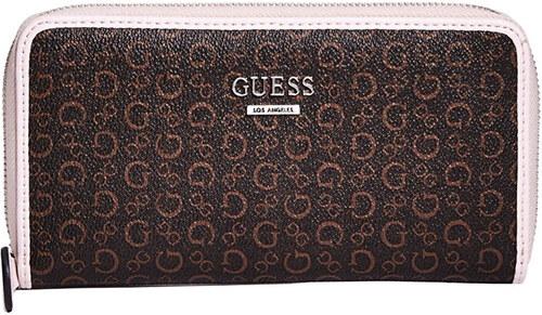 0e718c2d98 Guess Dámska peňaženka Factory Women`s Gilmore Logo Zip-Around Wallet  Natural Multi