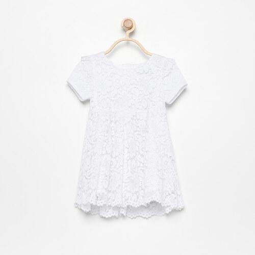 d3debdff8871 Reserved - Čipkované šaty s krátkymi rukávmi - Biela - Glami.sk