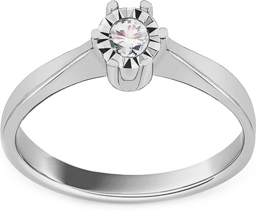 11cf5efc6 iZlato Forever Zásnubný prsteň z bieleho zlata so zirkónom IZ17665A ...