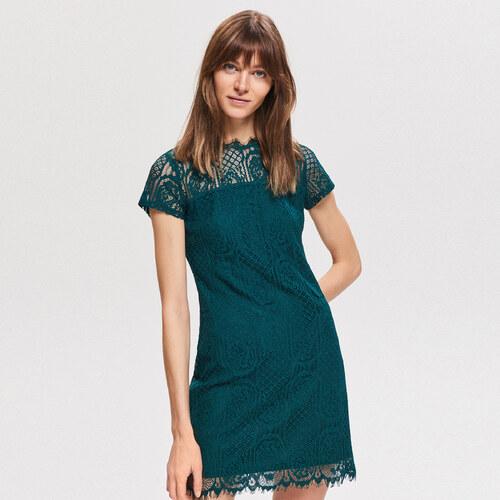 Reserved - Čipkované šaty - Khaki - Glami.sk a63f945e113