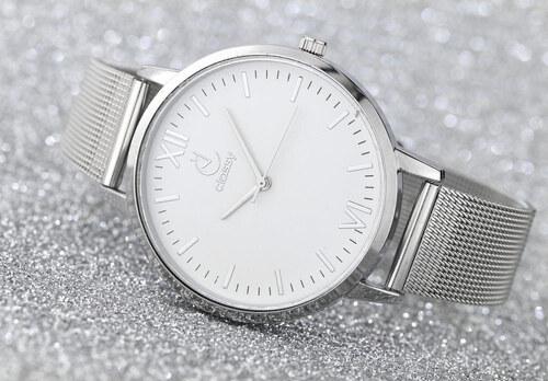 277922b37bf E-carla Dámské hodinky kovové stříbrné 3,9 cm - Glami.cz