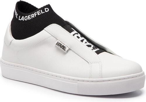 822f99db7b Sportcipő KARL LAGERFELD - KL61041 White Lthr W/Black - Glami.hu