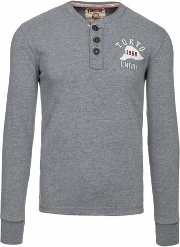 cb11e1fb5 Šedé pánské tričko s dlouhým rukávem bez potisku Bolf 5034 - Glami.cz