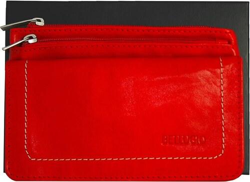 52f904e273 Dámska peňaženka s dvomi zipsami Bellugio - červená AD-10-119-1135 1439