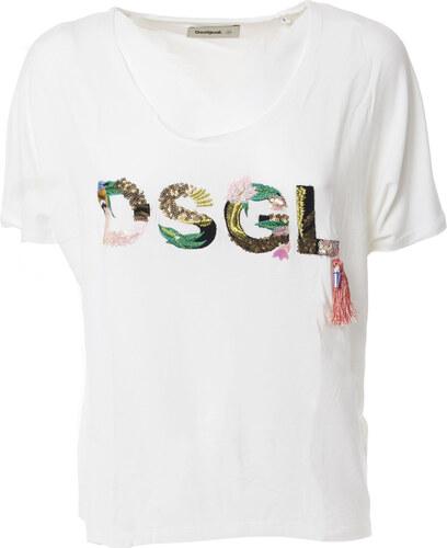 11078bedc082 Desigual Dámské trička Woman T-shirt Bílá - Glami.cz