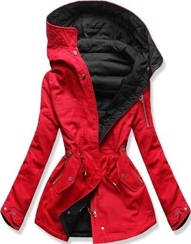 18cbe2355a MODOVO Női átmeneti kabát QL-333 piros-fekete - Glami.hu