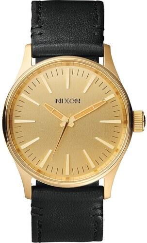 hodinky NIXON - Sentry 38 Leather Gold Black (513) - Glami.sk 414eceff4e0