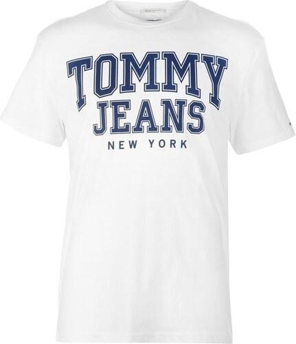 39c46cc97a Pánské triko Tommy Hilfiger Jeans Essential College Bílé - Glami.cz