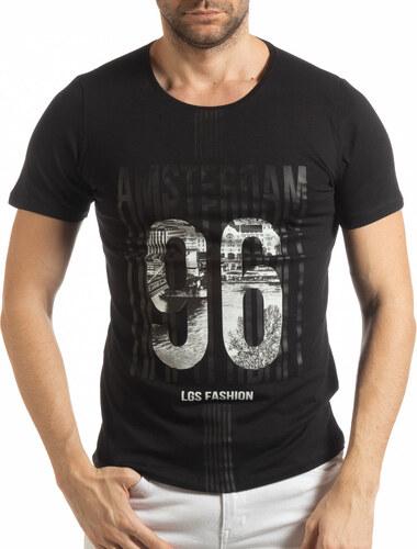 d6604ec0889 Lagos Мъжка черна тениска Amsterdam 96 - Glami.bg