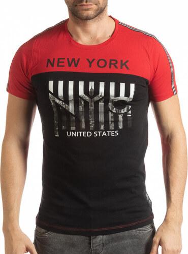 ce3afce8d7d Lagos Мъжка червено-черна тениска New York - Glami.bg