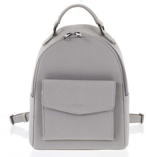 044487f76c Strukturovaný stylový dámský batůžek světle šedý - Hexagona Zorba šedá