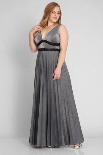 e7574567f136 FERVENTE Plus size šaty Šero