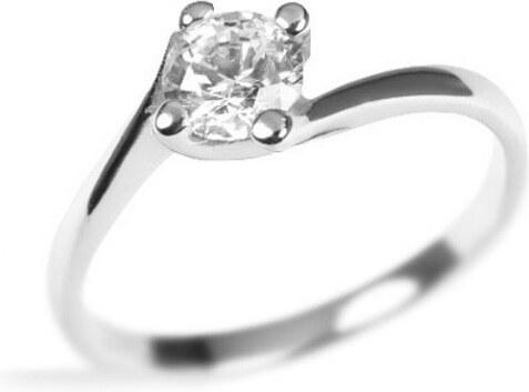 Silvego Decentný strieborný prsteň Crystal so Swarovski Crystals BSG25023 6efc04c463c