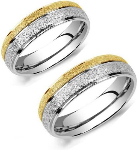 fb3640daf Ligot Snubné oceľové prstene - obrúčky s pieskovaním RRC0365-OB ...