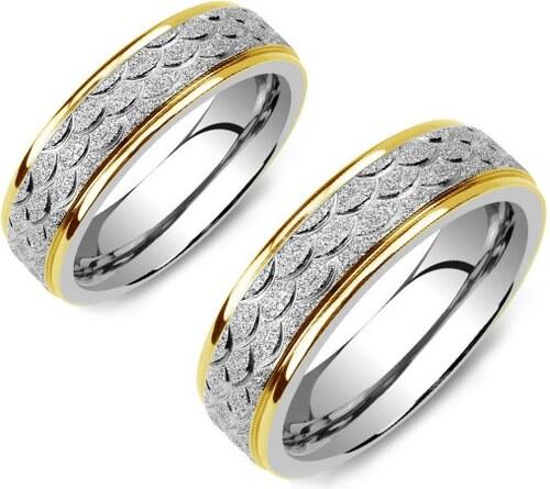 078bbeaec Ligot Oceľové prstene - obrúčky pre mužov a ženy XRG455L-OB - Glami.sk