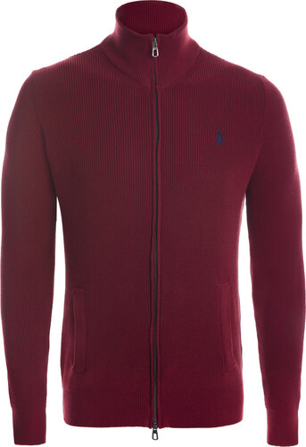 1d711f6f7f Bordový prémiový sveter na zips od Ralph Lauren - Glami.sk