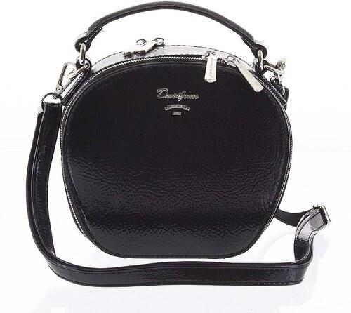 5af37e5ea Exkluzívna dámska lesklá crossbody kabelka čierna - David Jones Lucile  čierna