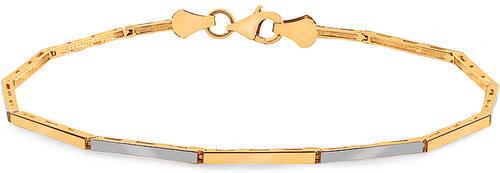 43cdf1a23 iZlato Forever Zlatý minimalistický dvoubarevný elegantní náramek IZ17771